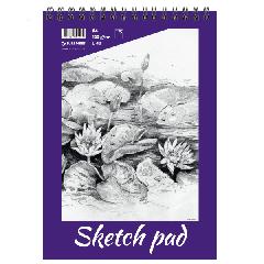 Sketch pad A4, 120 g, 40 lehte, perfo, spiraalköide