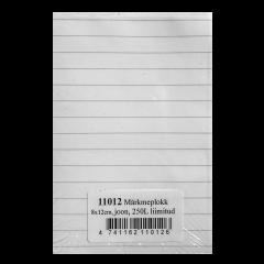 Märkmeplokk 80x120, 5x5 joon, 250l, liimitud