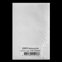 Märkmeplokk 80x120, valge, 250l, liimitud