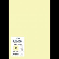 Kartong Bristol A4/200gr, helekollane (07), 20 lehte pakis
