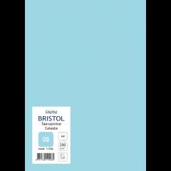 Kartong Bristol A4/200gr, taevasinine (08), 20 lehte pakis