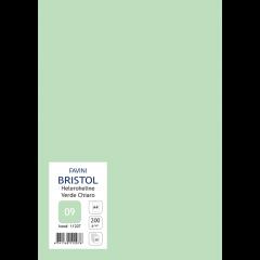 Kartong Bristol A4/200gr, heleroheline (09), 20 lehte pakis