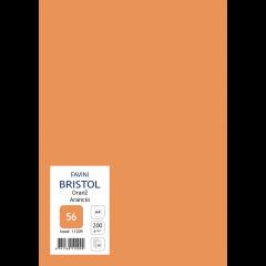 Kartong Bristol A4/200gr, oranž (56), 20 lehte pakis
