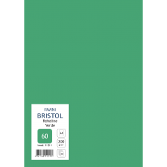 Kartong Bristol A4/200gr, roheline (60), 20 lehte pakis
