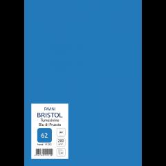 Kartong Bristol A4/200gr, tumesinine (62), 20 lehte pakis