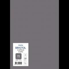 Kartong Bristol A4/200gr, grafiithall (72), 20 lehte pakis