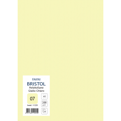 Kartong Bristol A3/200gr, helekollane (07), 20 lehte pakis
