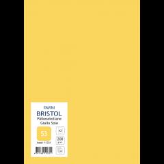 Kartong Bristol A3/200gr, päikesekollane (53), 20 lehte pakis