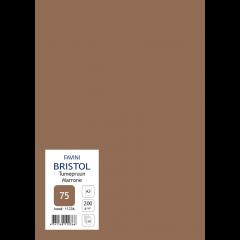 Kartong Bristol A3/200gr, tumepruun (75), 20 lehte pakis