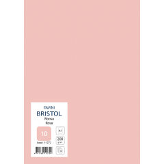 Kartong Bristol 60,5x85cm/200gr, roosa (10), 10 lehte pakis
