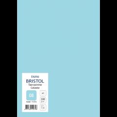 Kartong Bristol 60,5x85cm/200gr, taevasinine (08), 10 lehte pakis