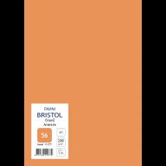 Kartong Bristol 60,5x85cm/200gr, oranž (56), 10 lehte pakis