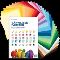 Värvilise paberi komplekt, 80 g, 35 lehte, 35 värvi
