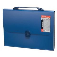 Lõõtsmapp sangaga A4 MEGAPOLIS 12 taskut, sinine