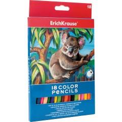Värvipliiatsid kolmnurksed Erich Krause 18 värvi