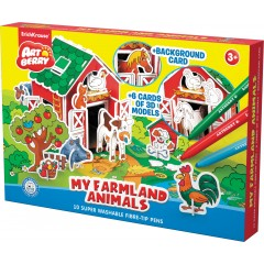 3D puzzle My Farmland Animals/Artberry 10 viltpliiatsit+6 värvilehte
