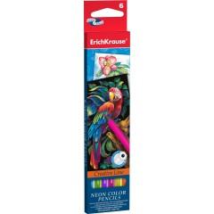 Värvipliiatsid, NEON Creative Line, 6 värvi