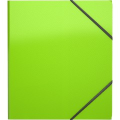 Nurgakummiga plastmapp A5+ GLANCE NEON, 4 värvi, 19,5x22cm