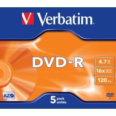 DVD-R Verbatim 16x 4,7GB MattSilver