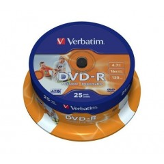DVD+R Verbatim 16x spindel (25)