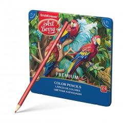 Värvipliiatsid Artberry Premium, 24 värvi metallkarbis