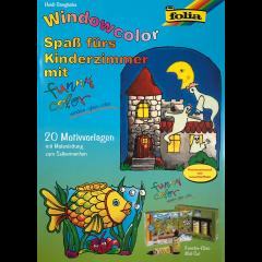Värvimiseraamat Folia A4 10lehte (vitraaz)