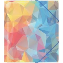 Nurgakummiga plastmapp A5+ DYNAMIQUE (47216)