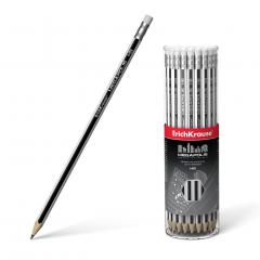 Harilik pliiats kummiga MEGAPOLIS HB, 42tk plasttopsis