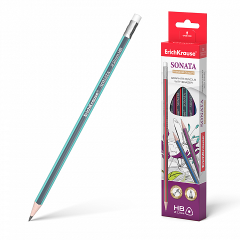 Harilik pliiats kolmnurkne SONATA HB kummiga