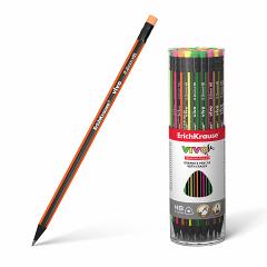 Harilik pliiats kummiga VIVO HB, 42tk plasttopsis