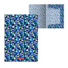 Nurgakummiga plastmapp A4 CUBES