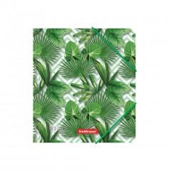 Nurgakummiga plastmapp A5+ Tropical Leaves