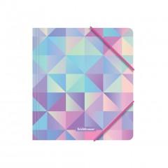 Nurgakummiga plastmapp A5+ Magical Rhombs