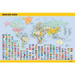 Lauamatt  Maailma riigid, 40x60cm