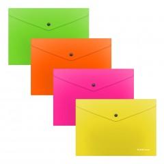 Kileümbrik trukiga A5+ Glossy Neon, poolläbipaistev, 4 värvi assortii