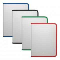 Plastmapp ringlukuga A5+ Diagonal Clear, 4värvi assortii