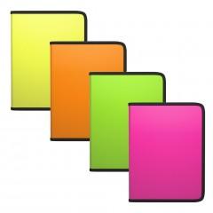 Plastmapp ringlukuga A5+ Diagonal Neon, 4värvi assortii