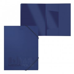 Nurgakummiga plastmapp A4 MEGAPOLIS, sinine