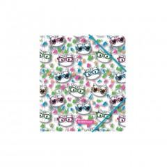 Nurgakummiga plastmapp A5+ Neon Cats