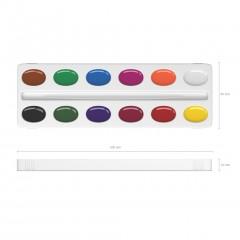 Akvarellvärvid meega BASIC, 12 värvi