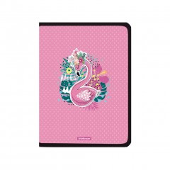 Plastmapp ringlukuga A4+ Rose Flamingo