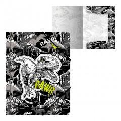 Nurgakummiga plastmapp A4 Dinosaur Park