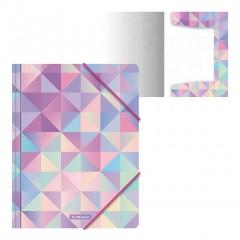 Nurgakummiga plastmapp A4 Magic Rhombs