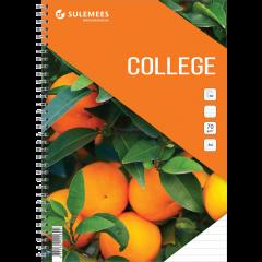 College A4, 60 lehte, jooneline – oranž