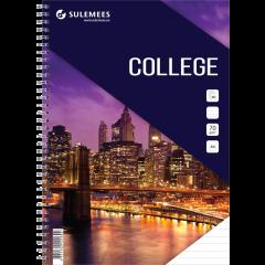 College A4, 60 lehte, jooneline – lilla