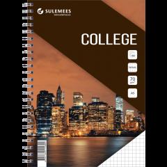College A5, 60 lehte, 5x5 ruut – pruun