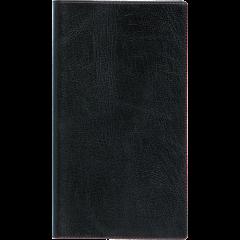Ruuduline märkmik 76x134 mm, 60 lehte, spiraalköide, plastkaaned – must