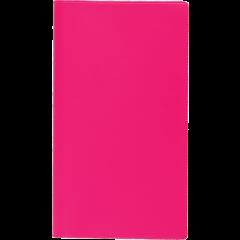 Ruuduline märkmik 76x134 mm, 60 lehte, spiraalköide, plastkaaned – roosa