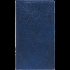 Ruuduline märkmik 76x134 mm, 60 lehte, spiraalköide, plastkaaned – sinine
