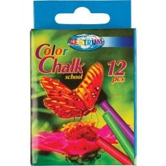 Kriit, koolikriit värviline 80mm, läbimõõt 7,5mm, 12 tk pakis